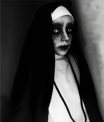 The Nun Halloween Makeup